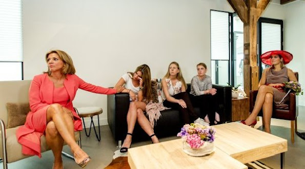 Queen Maxima of The Netherlands attend the opening of the Leontienhouse in Zevenhuizen