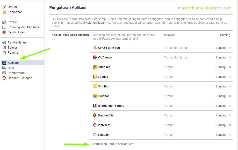 Facebook aplication