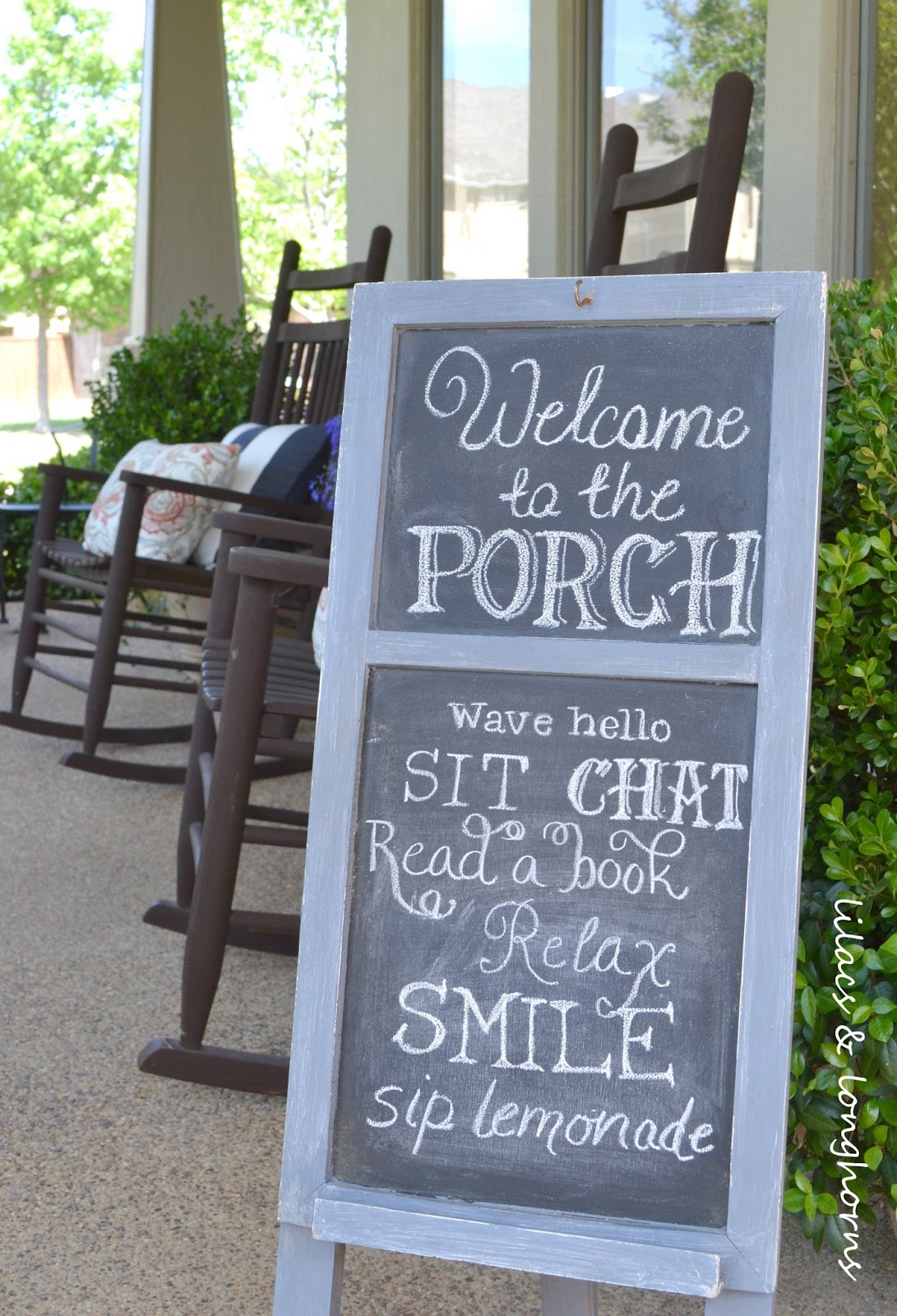 Front Porch Chalkboard Sign {update}  Lilacs And. Vehicular Heatstroke Signs Of Stroke. Clothes Ad Banners. Art Exhibition Lettering. Travelers Logo. Sunflower Decals. Parking Lot Signs. Dual Tip Lettering. Happy Birthday Banner To Print