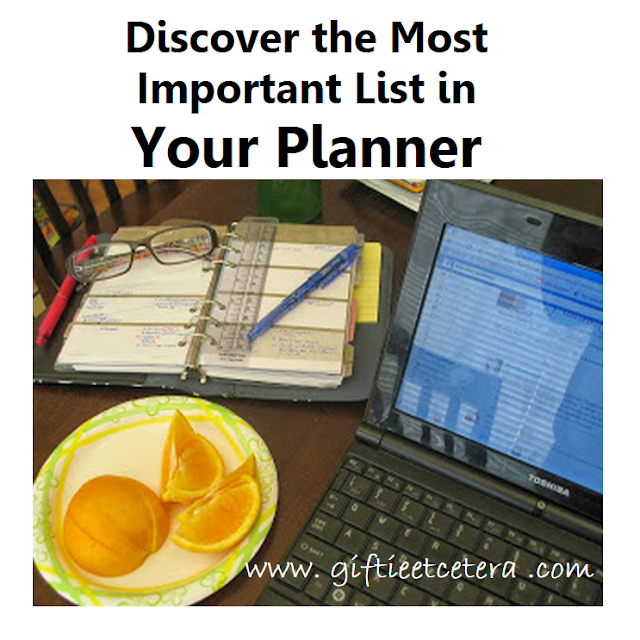 planner, eyeglasses, computer, laptop, oranges, planner lists, taking care of you, paper planner