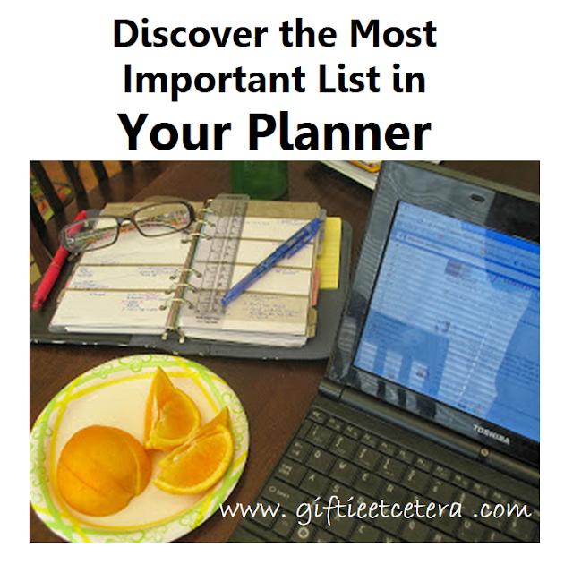 planner, eyeglasses, computer, laptop, oranges, planner lists, taking care of you, paper planner