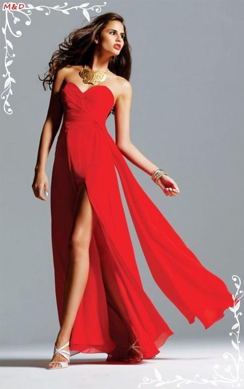 Schlitz Abendkleid 2014