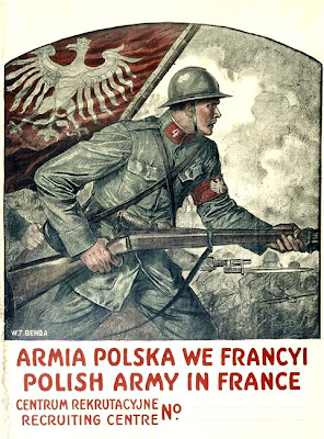 Polish Army in France recruitment poster-Armia Polska w Francja centrum rekrutacyjne 1940