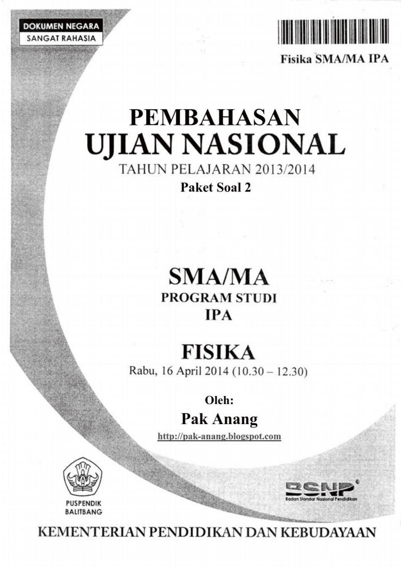 Pembahasan Soal Un Fisika Sma 2014 (Trik Superkilat) (Paket 2)