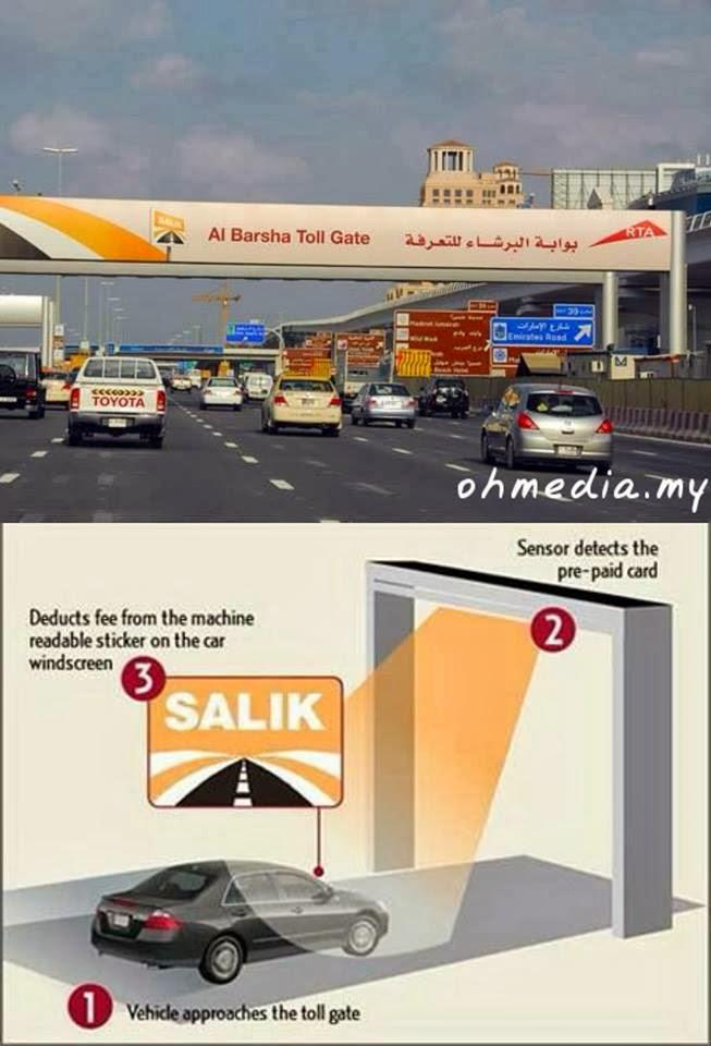Sistem tol lebuhraya di Dubai,UAE yang jauh lagi canggih daripada Malaysia