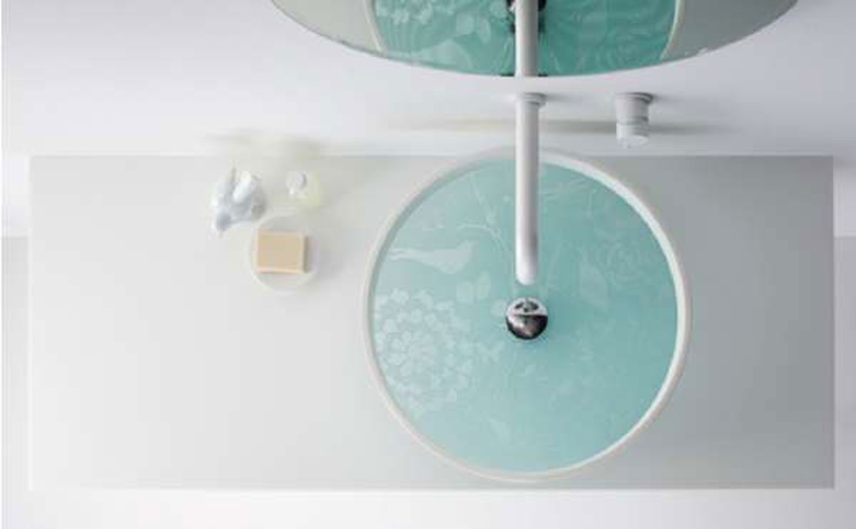 Modern wash basin designs aesthetic nice surface painting for Bathroom designs top view