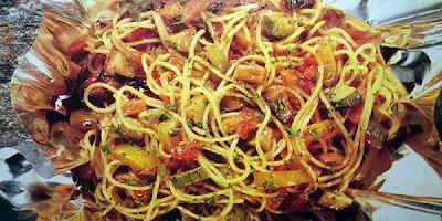 recetas pastas espaguetis con legumbres