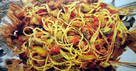Espaguetis con legumbres recetas de cocina cocinar for Cocinar berenjenas facil