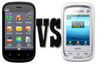 Micromax X454 vs. Samsung Champ Neo Duos