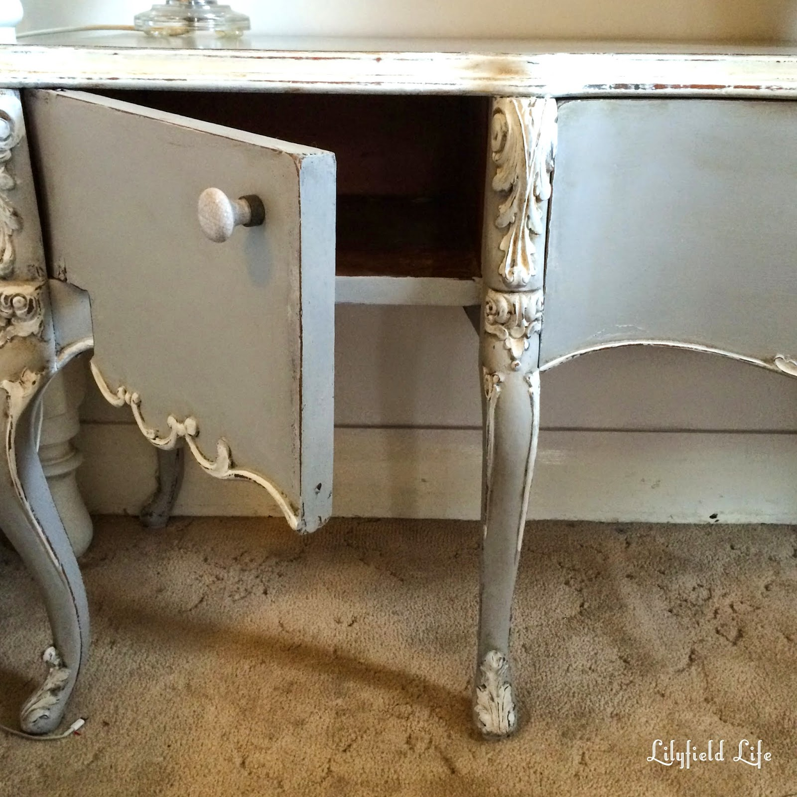 hand painted furniture Sydney by Lilyfield life antique french tv cabinet
