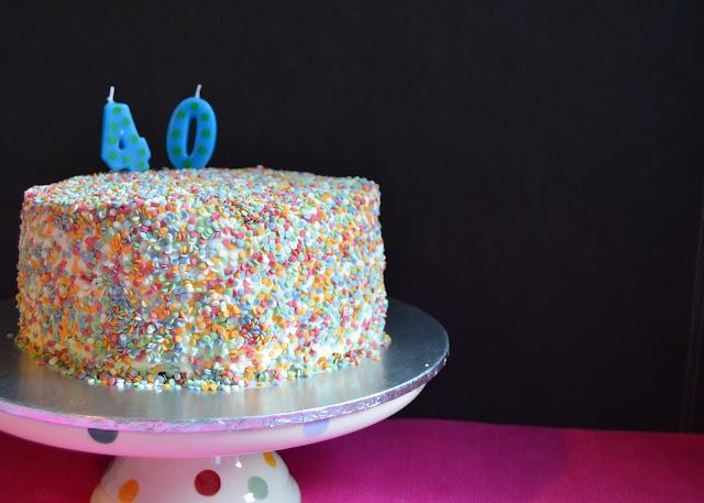 birthday cake dairy free confetti cake