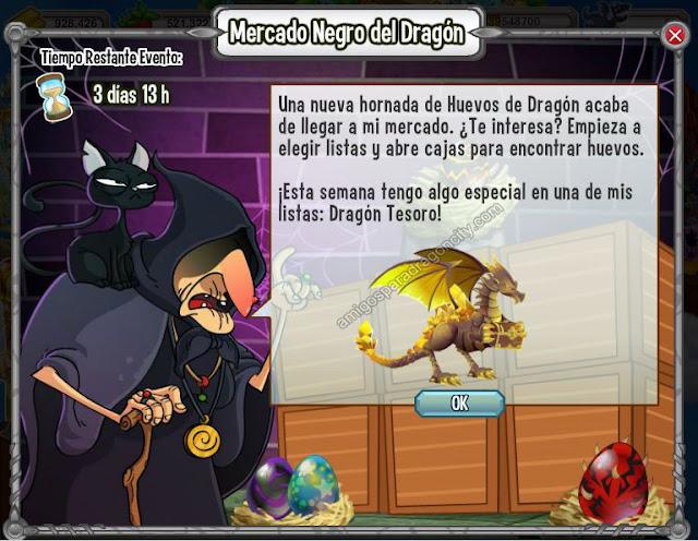 nuevo dragon del mercado negro de dragon city-dragon tesoro