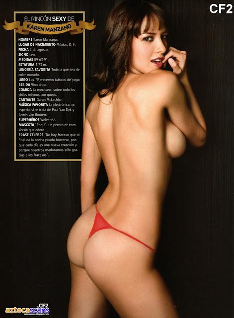 Karen Manzano Revista H para hombres Julio 2009