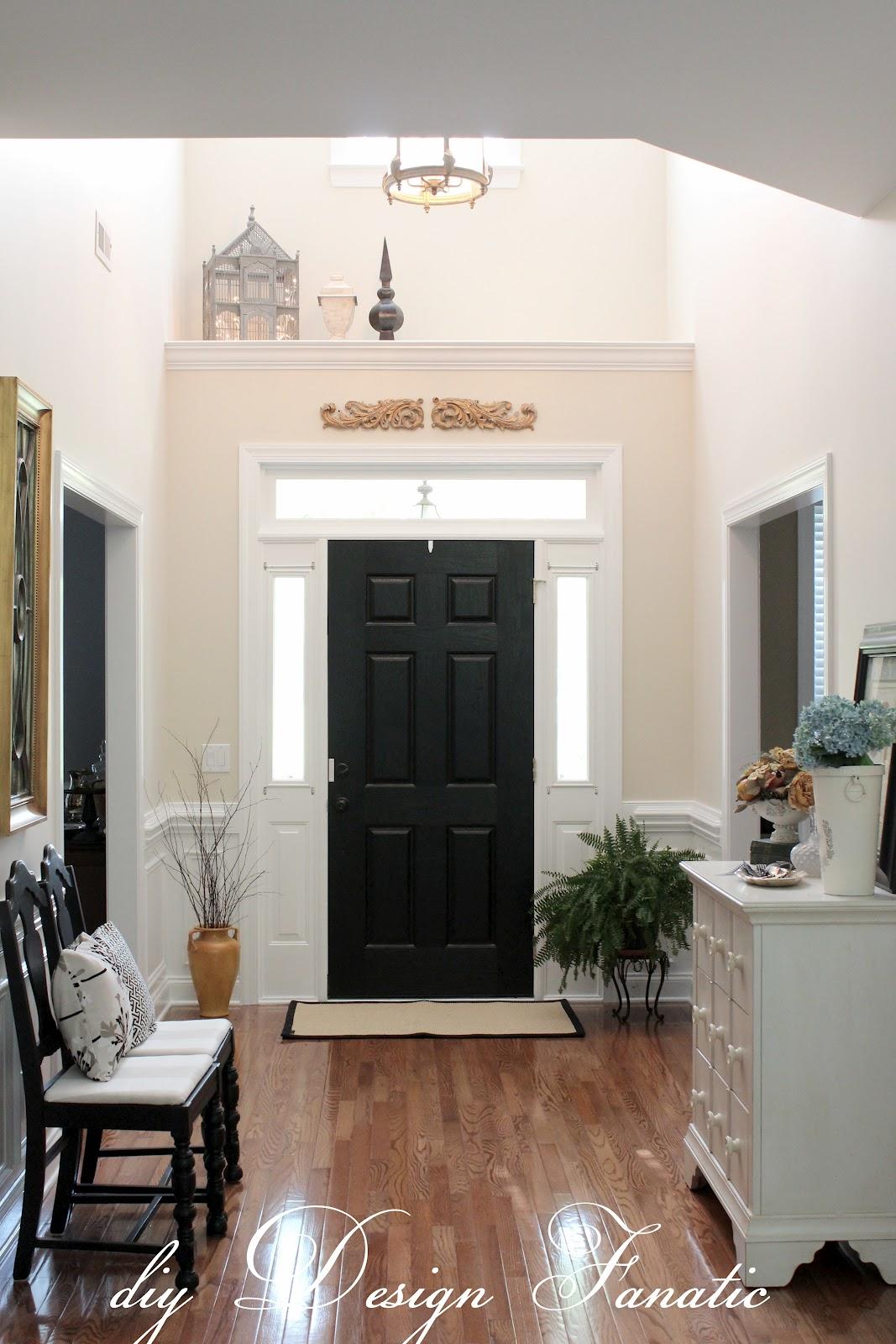 Diy design fanatic home tour for Front door foyer designs