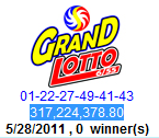 grand lotto 6/55 result may 30 winning number