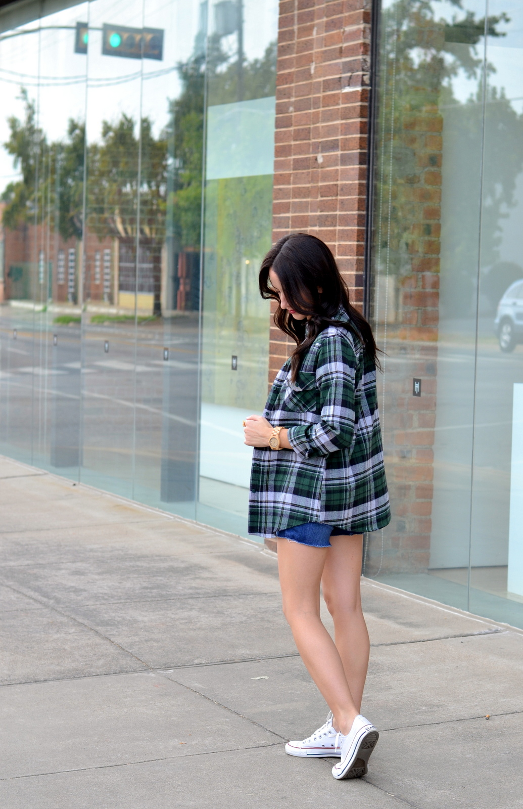 Boohoo Flannel, Fall flannel, converse