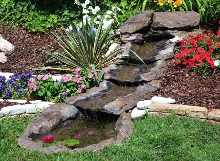 Dise o y decoraci n de la casa instale una cascada en su for Prodotti per laghetto da giardino