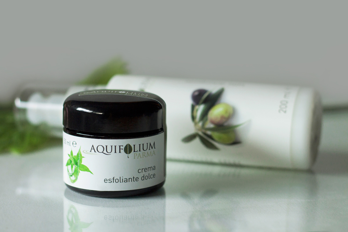 Aquifolium Parma, body cream, face scrub cream, face milk cleanser, argan oil