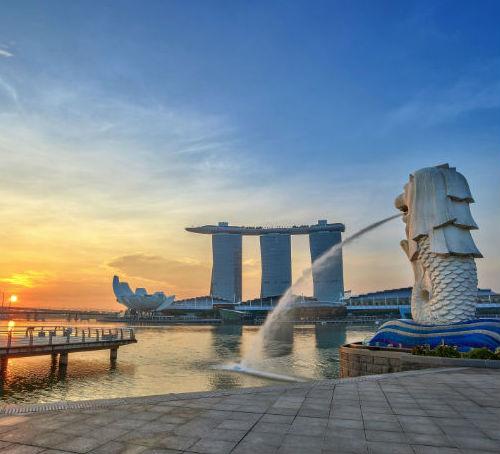 新加坡-鱼尾狮石像