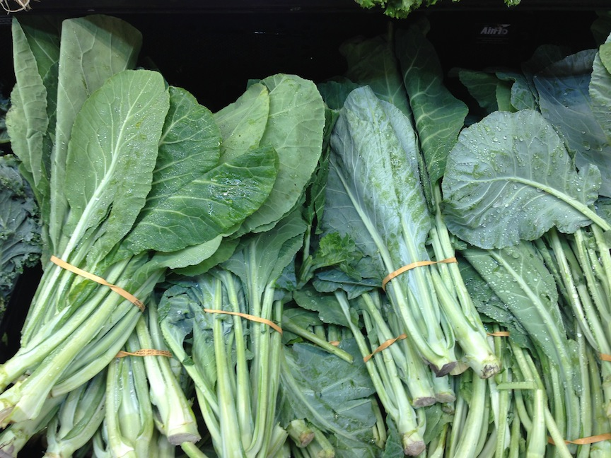 Collard greens (collards) are various loose-leafed cultivars of ...