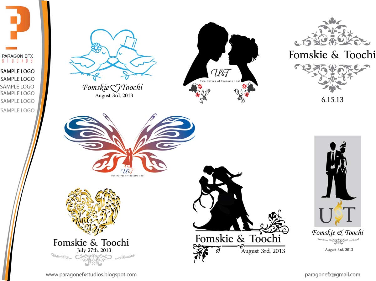 Wedding logo create joy studio design gallery best design