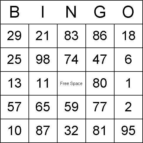 Effortless image within free printable bingo cards with numbers