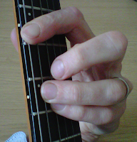A power chord, guitar power chord, A5