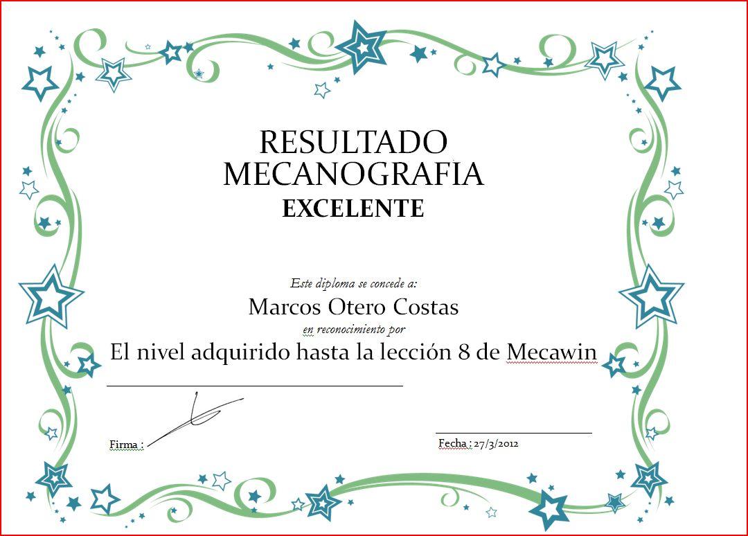 Extraescolar Informatica: Diploma Marcos