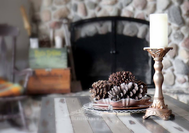 DIY Faux Copper Candlestick - VIP at KnickofTime.net