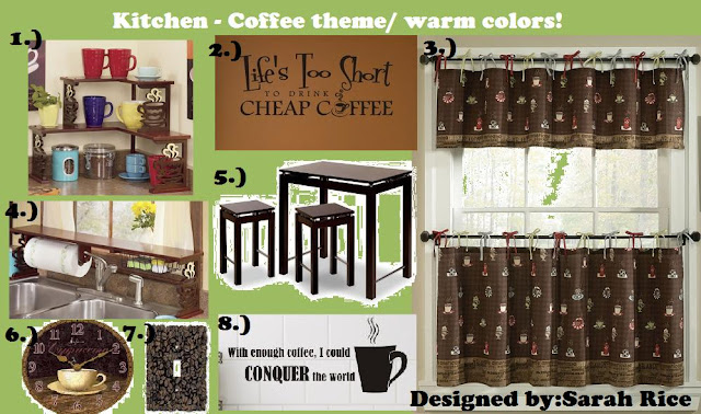 kitchen curtains with coffee themed canisters | Kitchen Design Ideas
