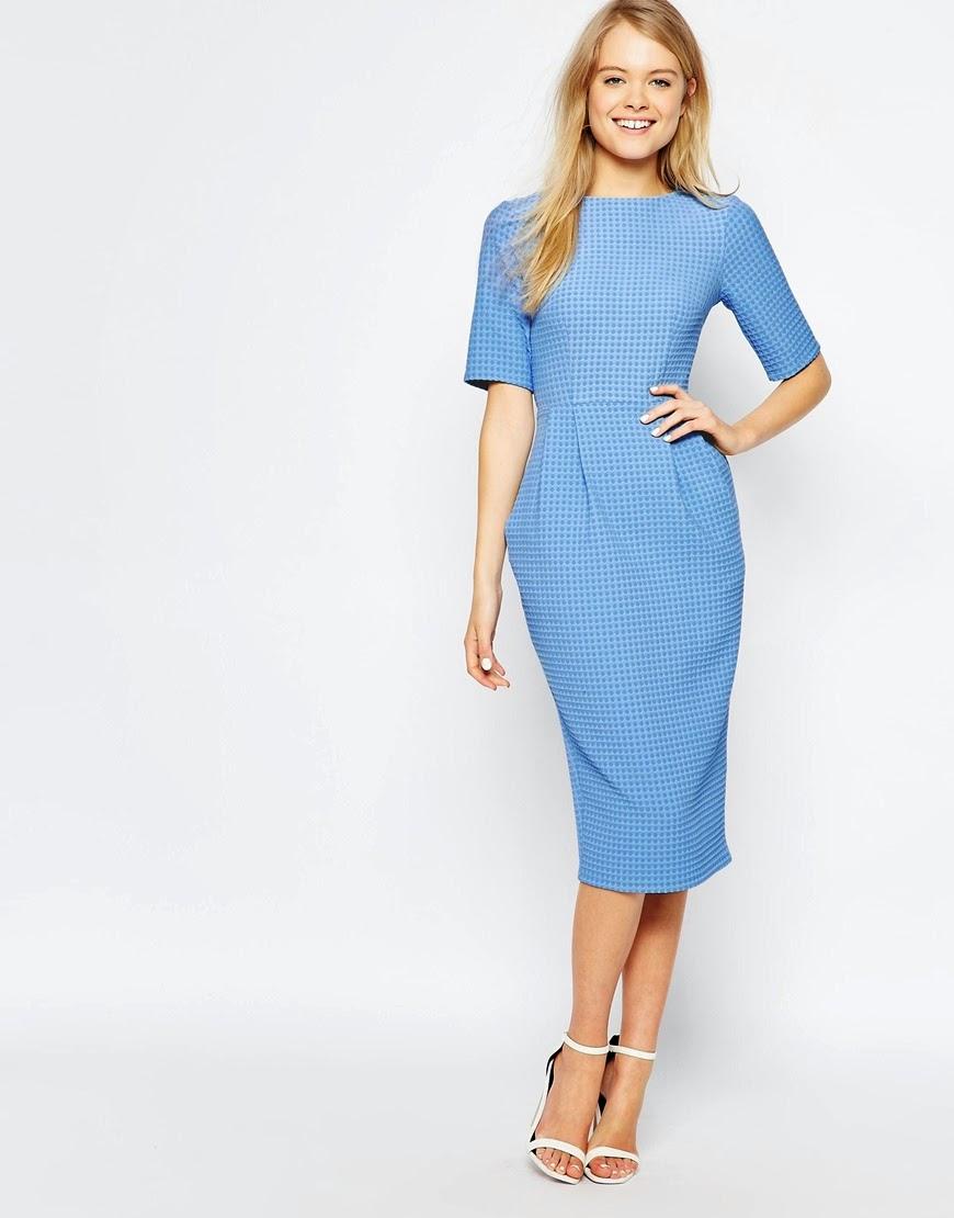 blue wiggle dress,