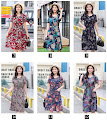 2018 18-Design Spring New Plus Size Floral Print Smooth Cotton Dress