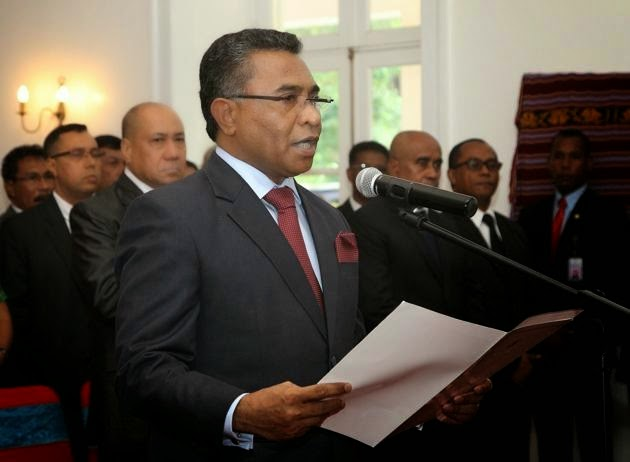Swearing in of the New PM of Timor-Leste