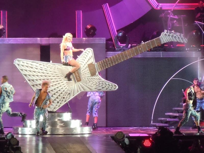Britney's giant guitar Femme Fatale concert
