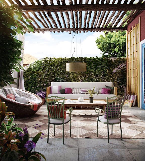 Terraza rustica terrazas y jardines fotos de jardines for Ideas para terrazas rusticas