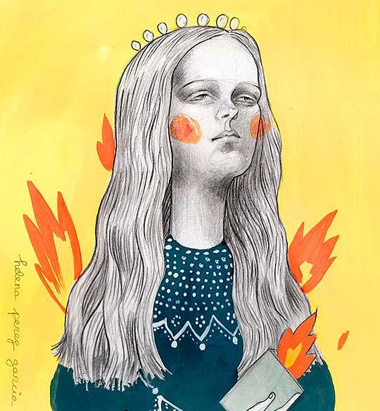 Destacado. Ilustración inquietante de Helena Perez Garcia