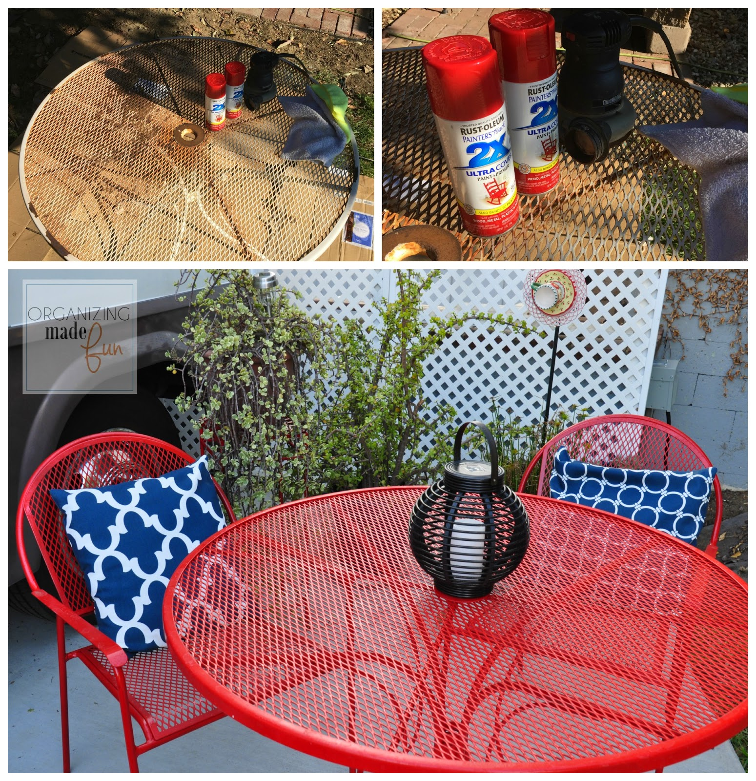 Little outdoor area for guests outside the RV :: OrganizingMadeFun.com