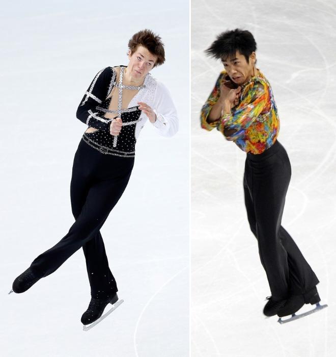patinaje artístico rostros graciosos olimpiadas