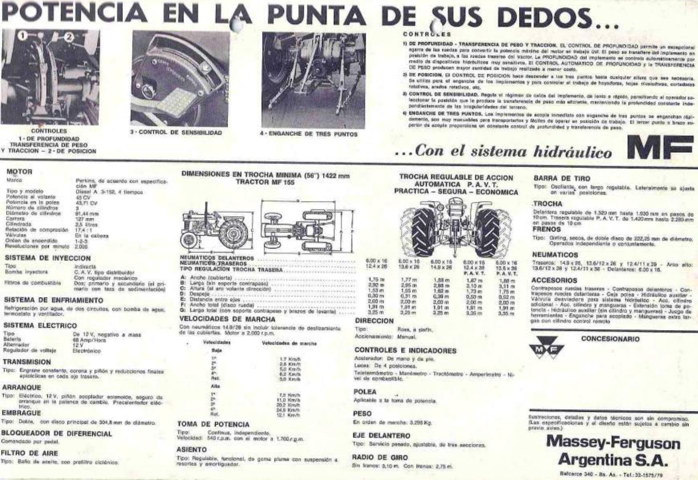 pesados argentinos  massey ferguson 155