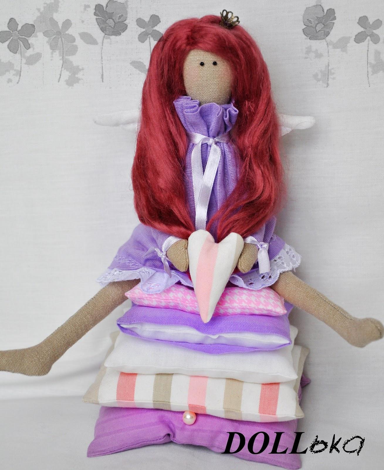 Тильда Принцесса на горошине текстильная игрушка ручной работы