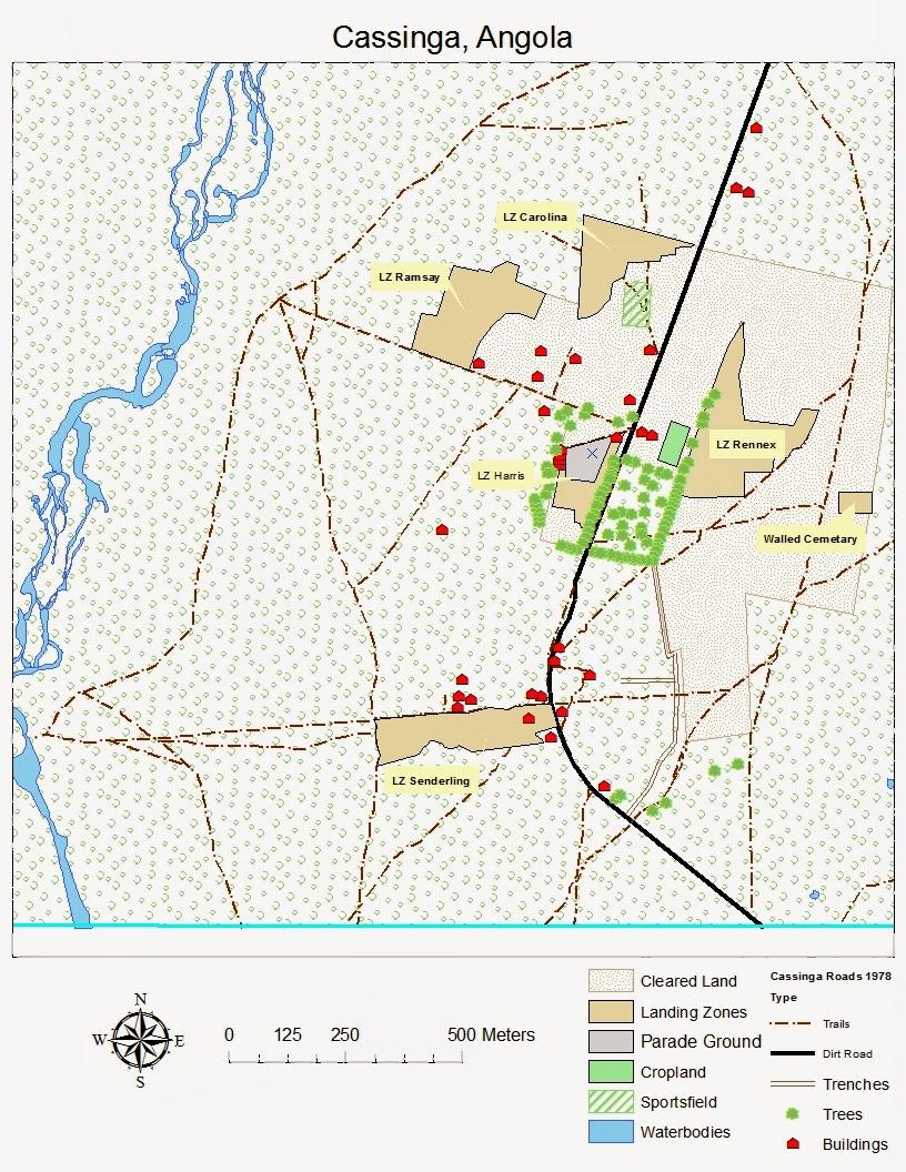 Cassinga Angola Map In Progress Daddys Little Men - Angola road map