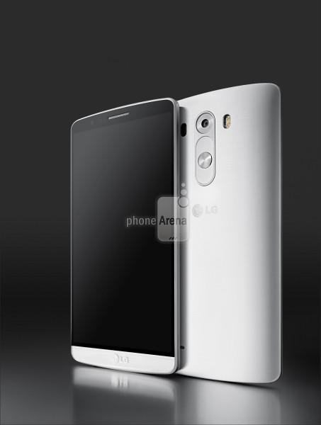 Foto press di LG G3 colore bianco