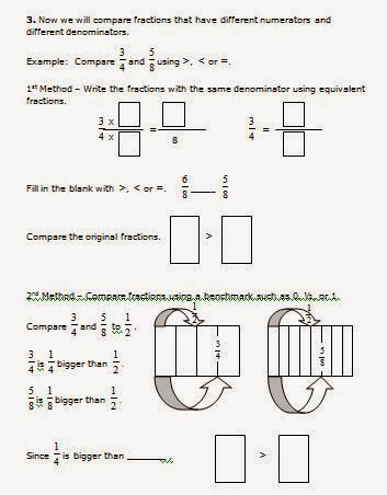Equivalent Fractions 4th Grade Fill In The Missing Fraction | Search ...