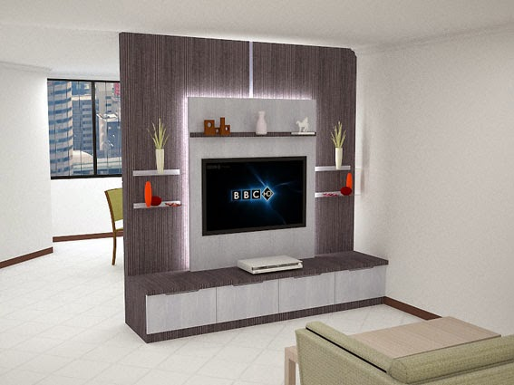 interiorsamarinda backdrop tv minimalis