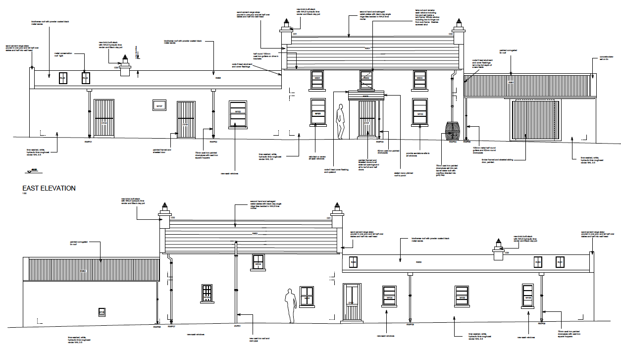 Irish vernacular farmhouse restoration plans for cottage for Traditional irish cottage plans