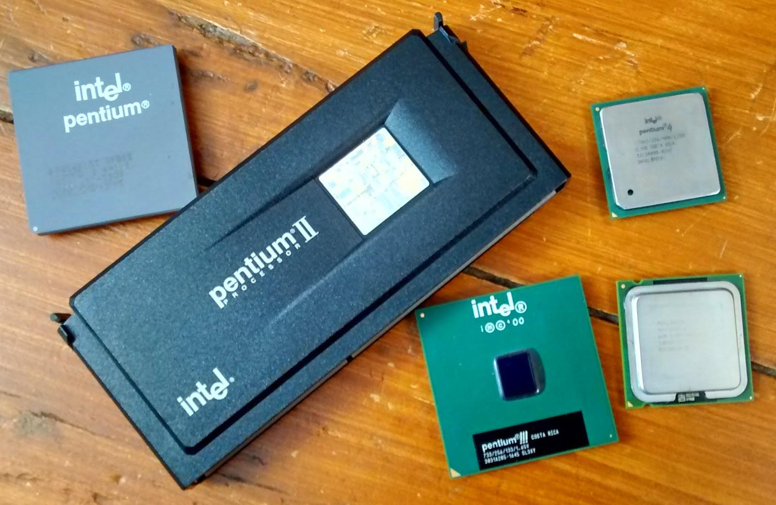 Intel Pentium, Pentium II, Pentium III, Pentium 4 and Pentium D