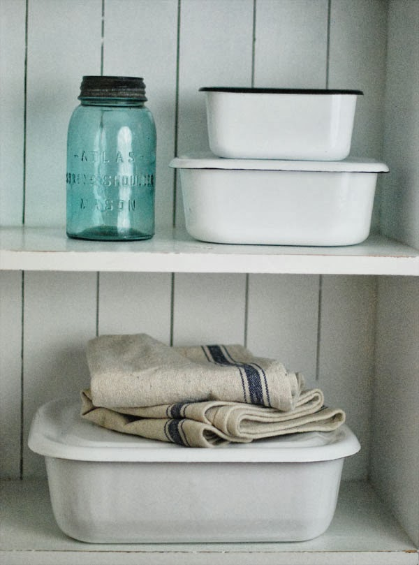 farmhouse musings Vintage Style Enamel Storage Containers