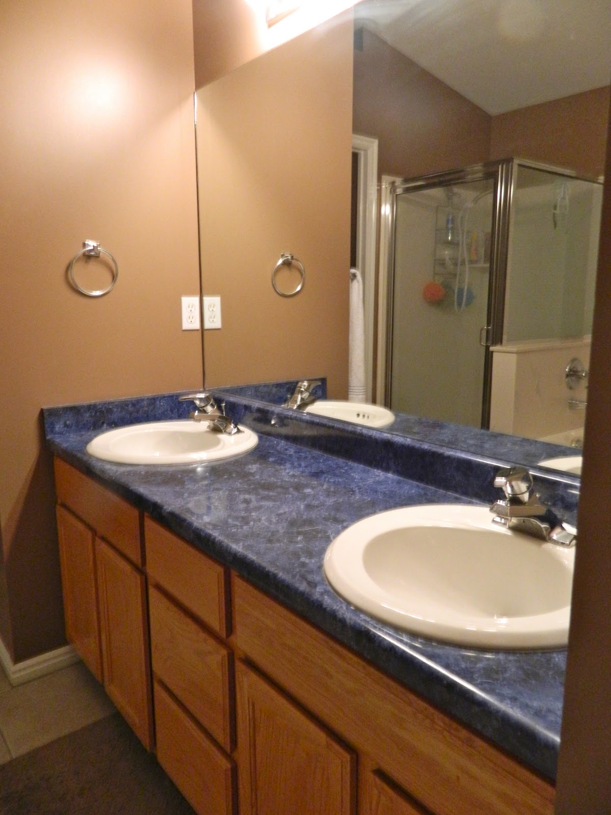Blue Bathroom Countertops