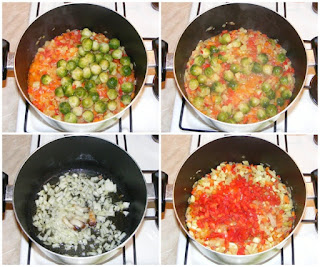 preparare mancare din carne de pui cu varza de bruxxeles si legume, retete culinare, retete de mancare, cum se gateste varza de bruxelles. retete cu varza de bruxel, retete cu pui,
