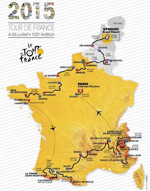 tour de france 2015, map